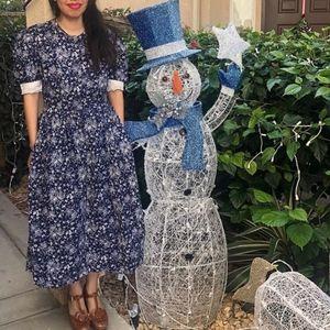 Blue Vintage Prairie Dress